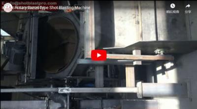 Rotary Barrel tip Shot Blating Machine