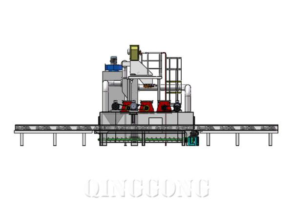 gas cylinder shot blasting machine 4